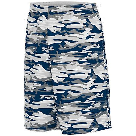 Reversible Wicking Short Navy Mod/white Adult Basketball Single Jersey & Shorts