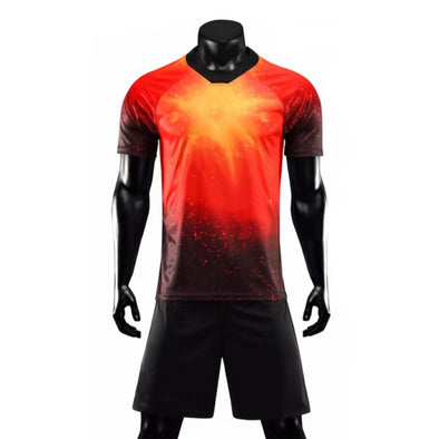 Red Galaxy Ss Adult Soccer Uniforms