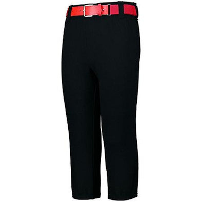 Youth Pull-Up Baseball Pant With Loops Black