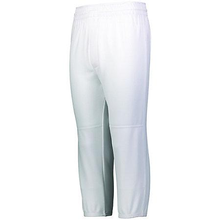 Youth Pull-Up Baseball Pant White Baseball
