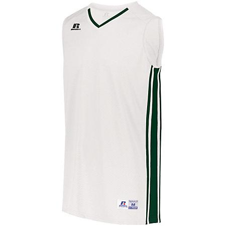 Youth Legacy Basketball Jersey White/dark Green Single & Shorts