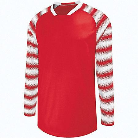 Youth Prism Goalkeeper Jersey Scarlet/white Single Soccer & Shorts