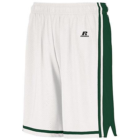 Youth Legacy Basketball Shorts White/cardinal Single Jersey &