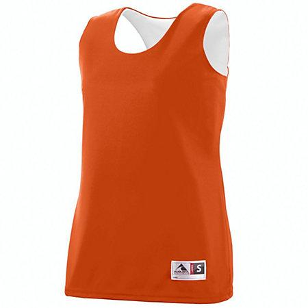 Ladies Reversible Wicking Tank Orange/white Basketball Single Jersey & Shorts
