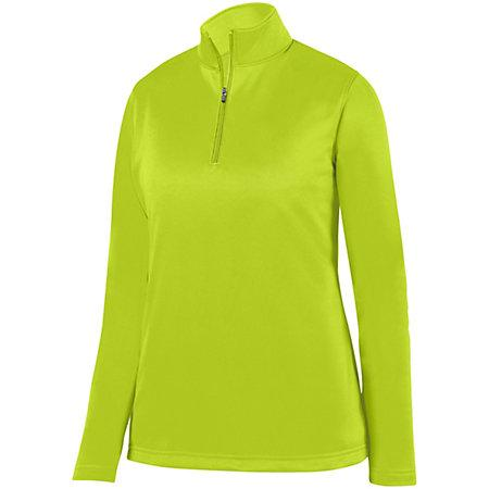 Ladies Wicking Fleece Pullover Lime Softball