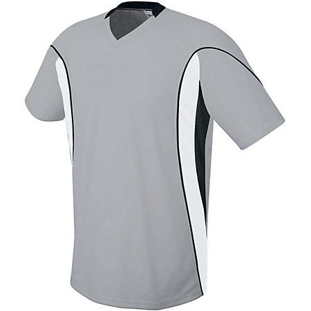 Helix Jersey Silver Grey/white/black Adult Single Soccer & Shorts