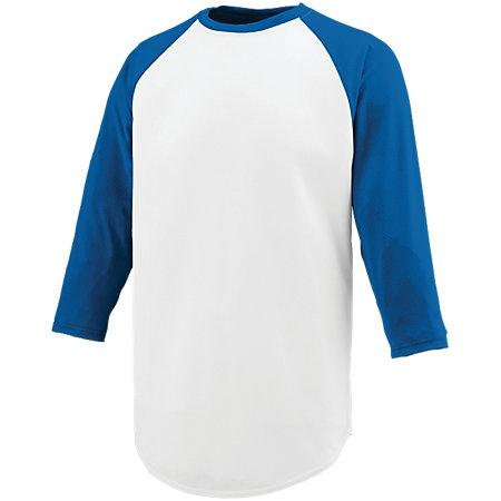 Nova Jersey White/royal Adult Baseball