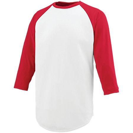 Nova Jersey White/red Adult Baseball