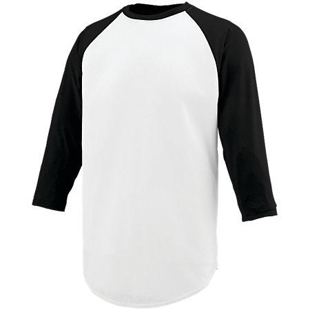 Nova Jersey White/black Adult Baseball