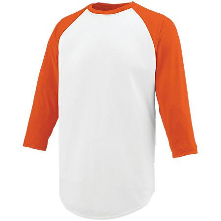 Nova Jersey White/orange Adult Baseball
