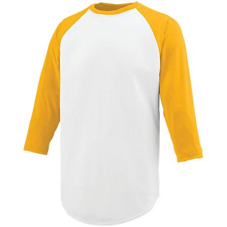 Nova Jersey White/gold Adult Baseball