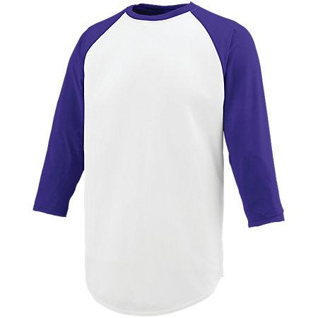 Nova Jersey White/purple Adult Baseball