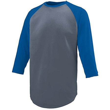 Nova Jersey Graphite/royal Adult Baseball