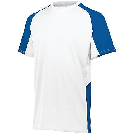 Cutter Jersey White/royal Adult Baseball