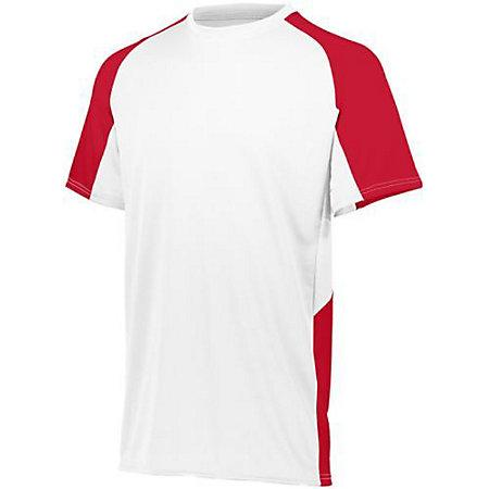 Youth Cutter Jersey Blanco / rojo Béisbol