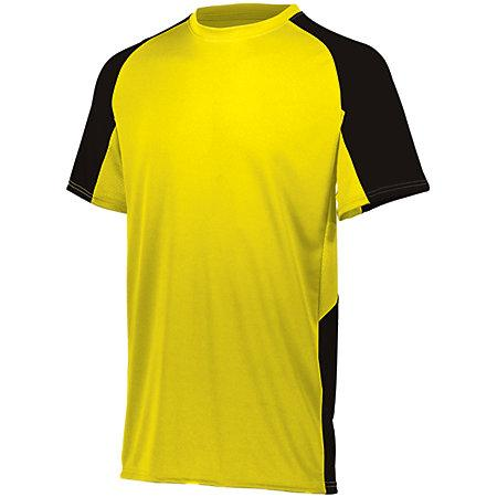 Youth Cutter Jersey Power Béisbol amarillo / negro