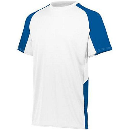 Youth Cutter Jersey White / royal Baseball