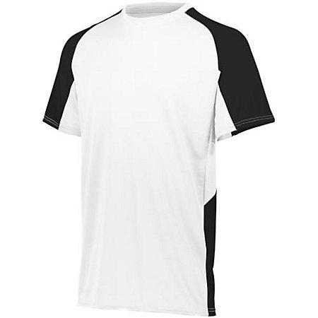 Youth Cutter Jersey Blanco / negro Béisbol