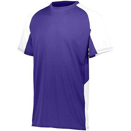 Youth Cutter Jersey Purple/white Baseball