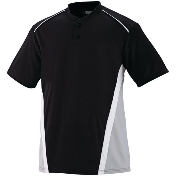Rbi Jersey Black/silver Grey/white Adult Baseball