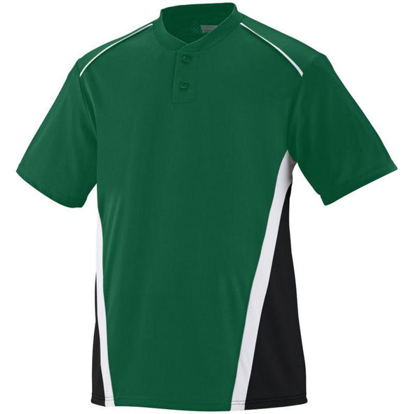 Rbi Jersey Dark Green/black/white Adult Baseball