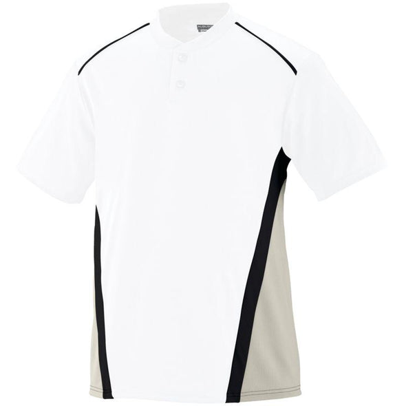 Rbi Jersey White/silver Grey/black Adult Baseball