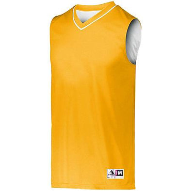 Youth Reversible Two-Color Jersey Gold/white Basketball Single & Shorts