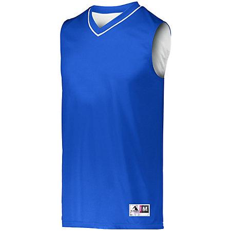 Youth Reversible Two-Color Jersey Royal/white Basketball Single & Shorts