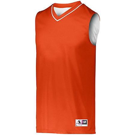 Youth Reversible Two-Color Jersey Orange/white Basketball Single & Shorts