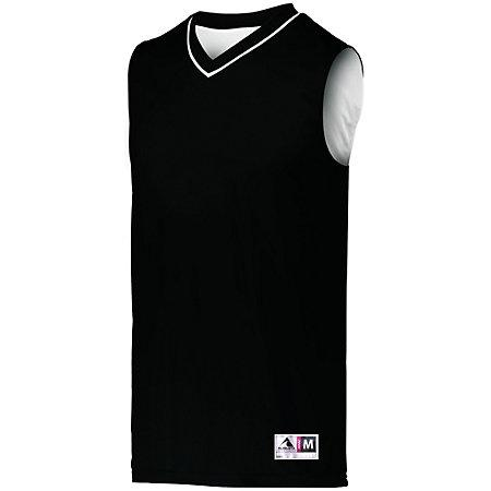 Youth Reversible Two-Color Jersey Black/white Basketball Single & Shorts