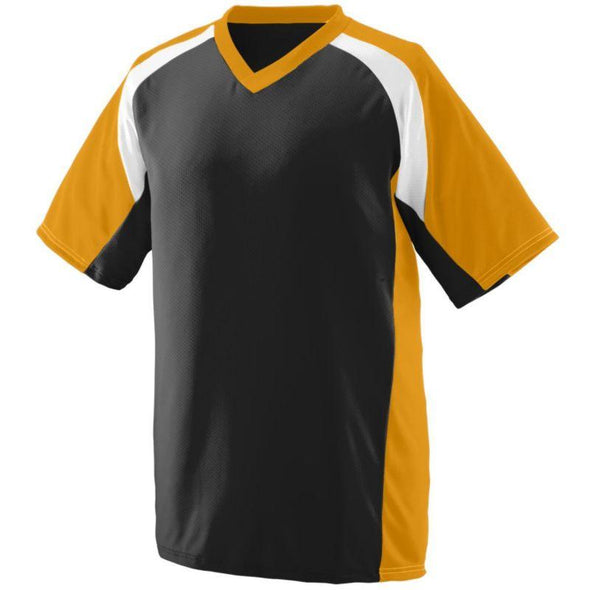 Youth Nitro Jersey Black/gold/white Baseball