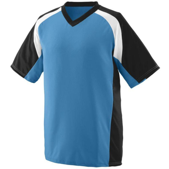 Youth Nitro Jersey Columbia Blue/black/white Baseball