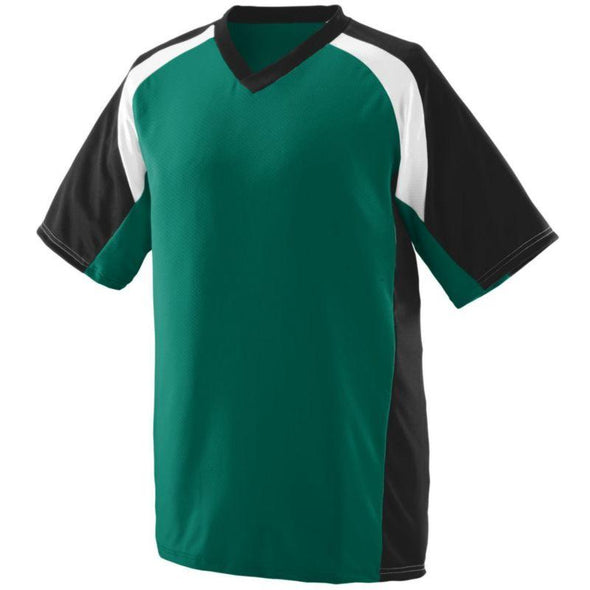 Youth Nitro Jersey Dark Green/black/white Baseball