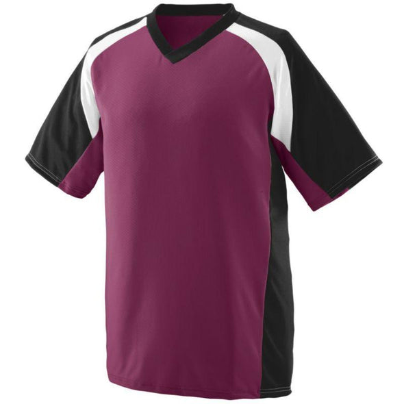 Youth Nitro Jersey Maroon/black/white Baseball