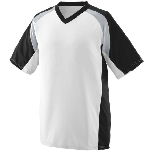 Youth Nitro Jersey White/black/silver Grey Baseball