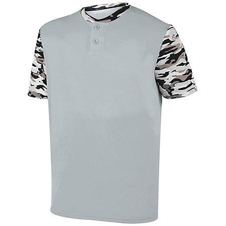 Youth Pop Fly Jersey Silver/black Mod Baseball
