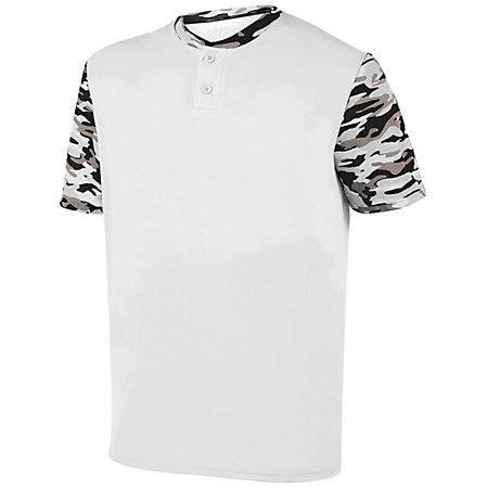 Youth Pop Fly Jersey White/black Mod Baseball