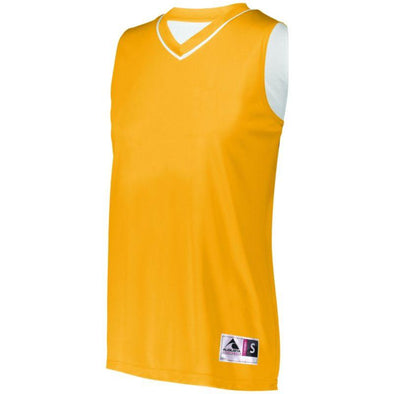 Ladies Reversible Two-Color Jersey Gold/white Basketball Single & Shorts