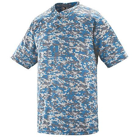 Digi Camo Wicking Two-Button Jersey Royal Adult Baseball