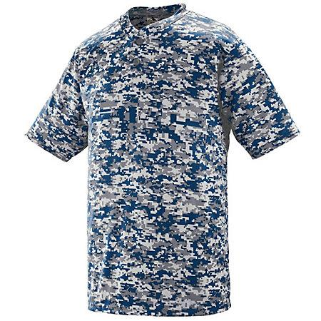 Digi Camo Wicking Two-Button Jersey Black Adult Baseball