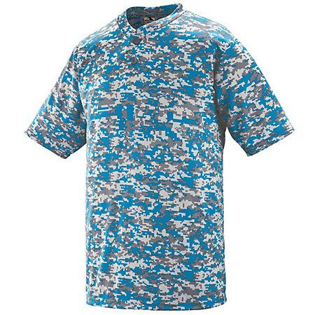 Digi Camo Wicking Two-Button Jersey Columbia Blue Adult Baseball