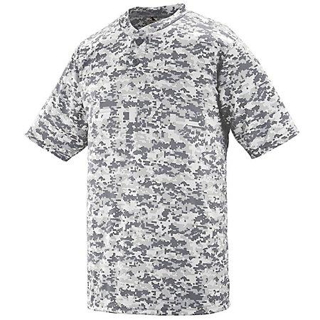 Digi Camo Wicking Two-Button Jersey White Adult Baseball