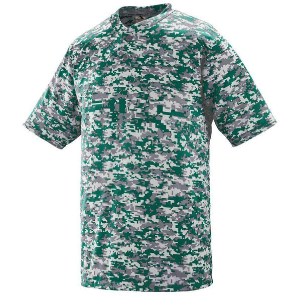 Youth Digi Camo Wicking Two-Button Jersey Maroon Baseball