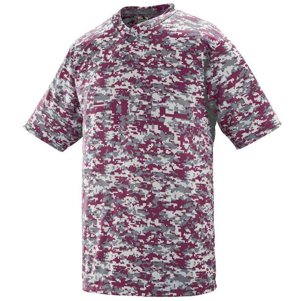 Youth Digi Camo Wicking Two-Button Jersey Navy Baseball