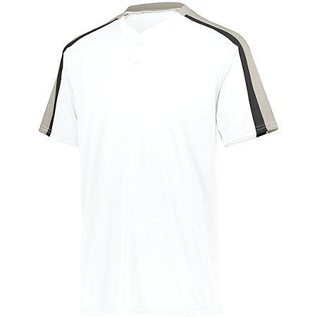 Power Plus Jersey 2.0 White/silver Grey/black Adult Baseball