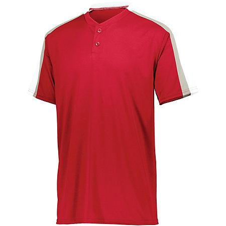 Power Plus Jersey 2.0 Red/white/silver Grey Adult Baseball