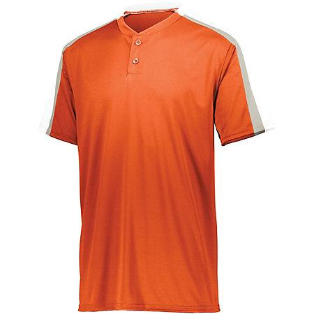 Power Plus Jersey 2.0 Orange/white/silver Grey Adult Baseball