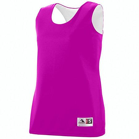 Ladies Reversible Wicking Tank Power Pink/white Basketball Single Jersey & Shorts