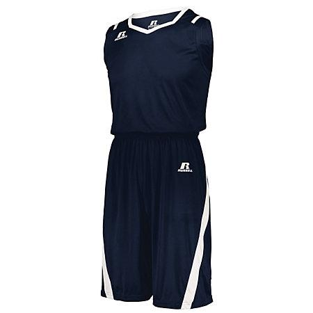 Athletic Cut Jersey Navy / white Adult Baloncesto Single & Shorts