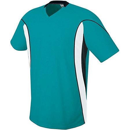 Helix Jersey Teal/white/black Adult Single Soccer & Shorts